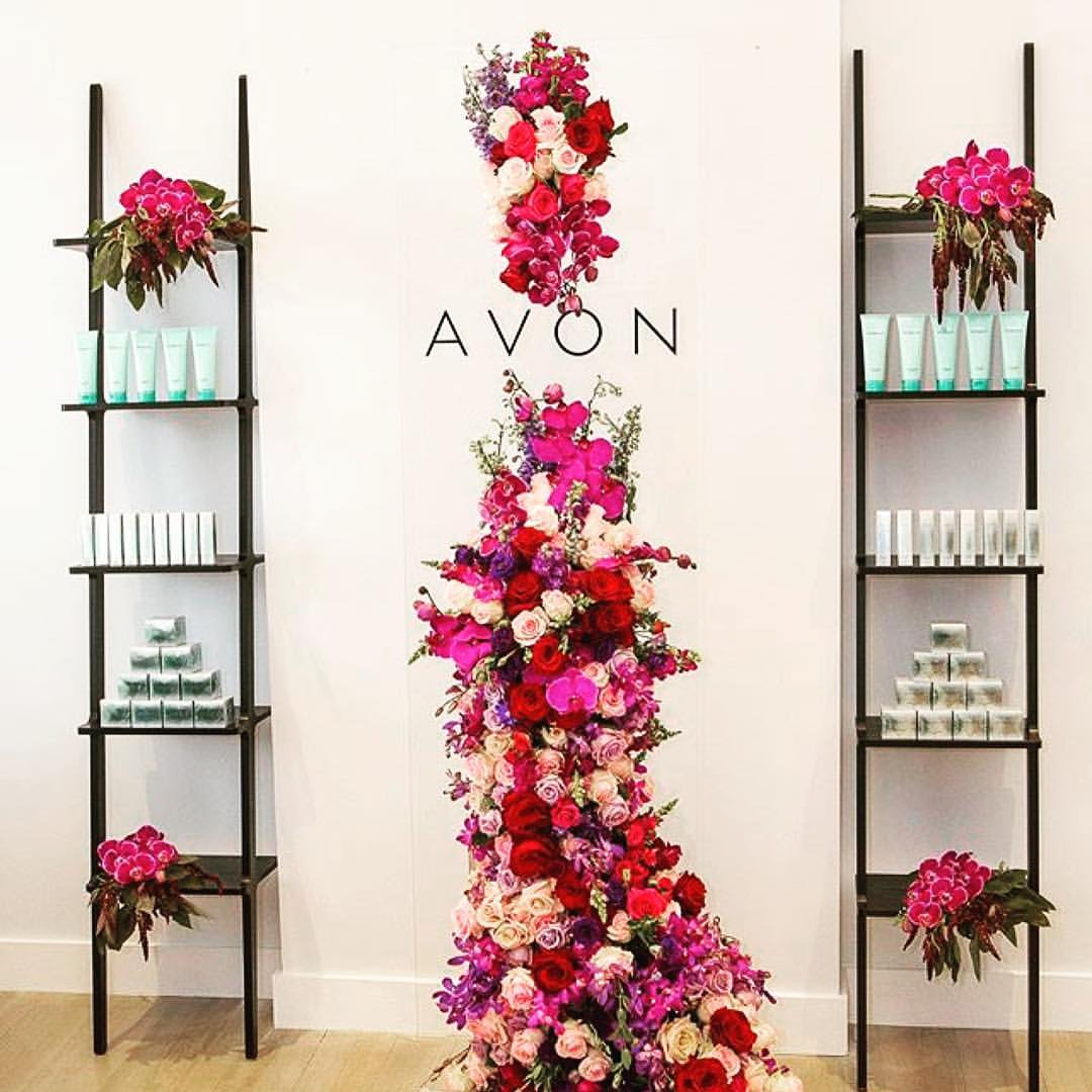 Floral themed corporate event for Avon