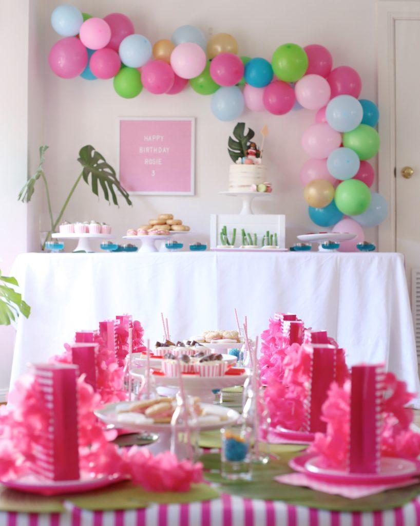 A pink Moana party