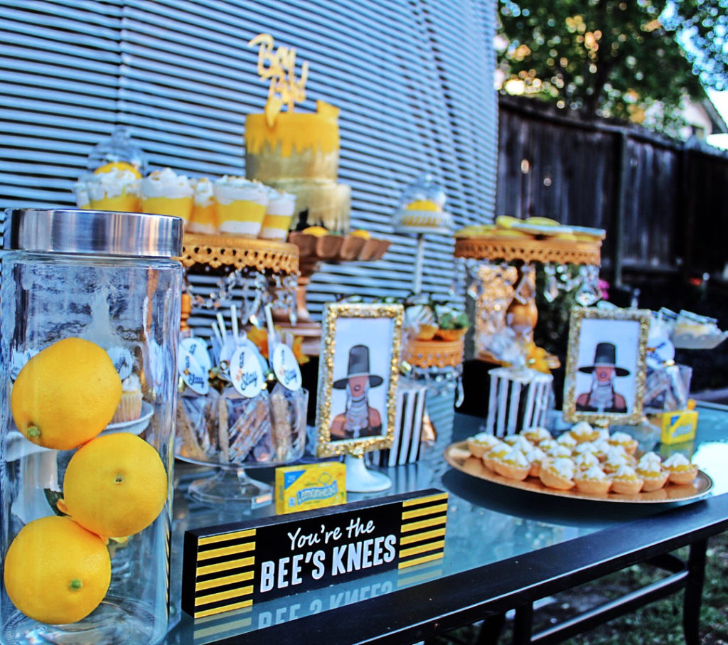 A Beyonce themed dessert table for a kid's party