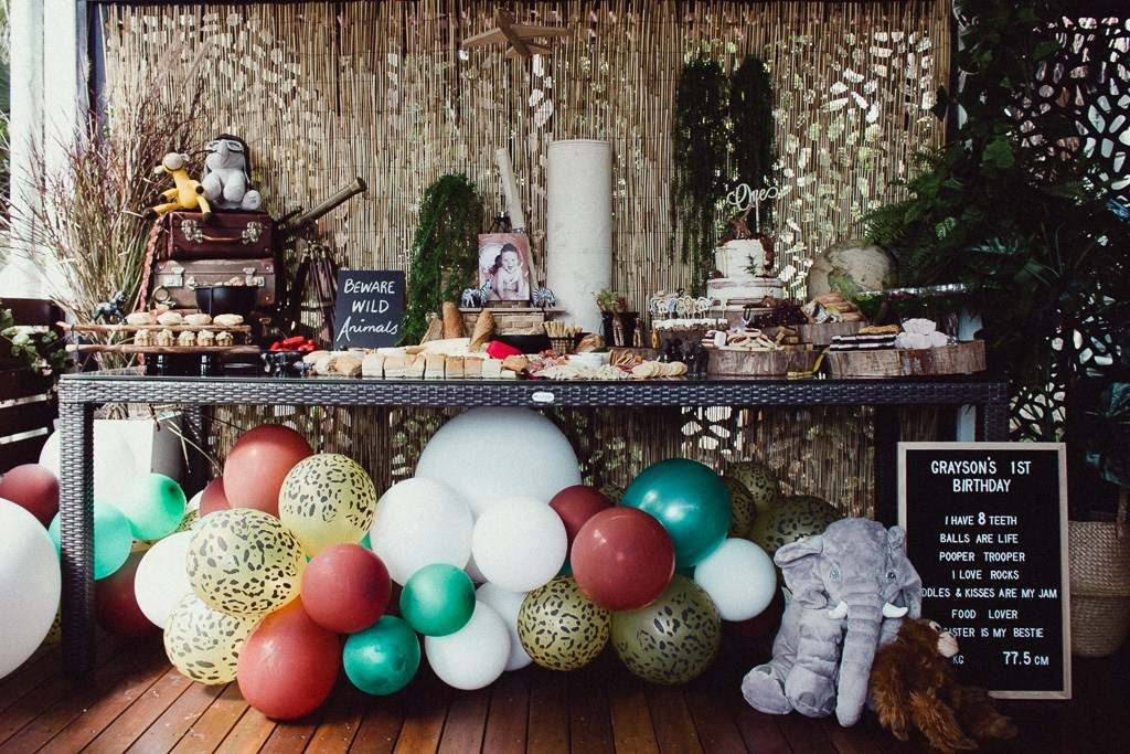 , A DIY Vintage Jungle First Birthday
