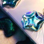 Beautiful iridescent plates