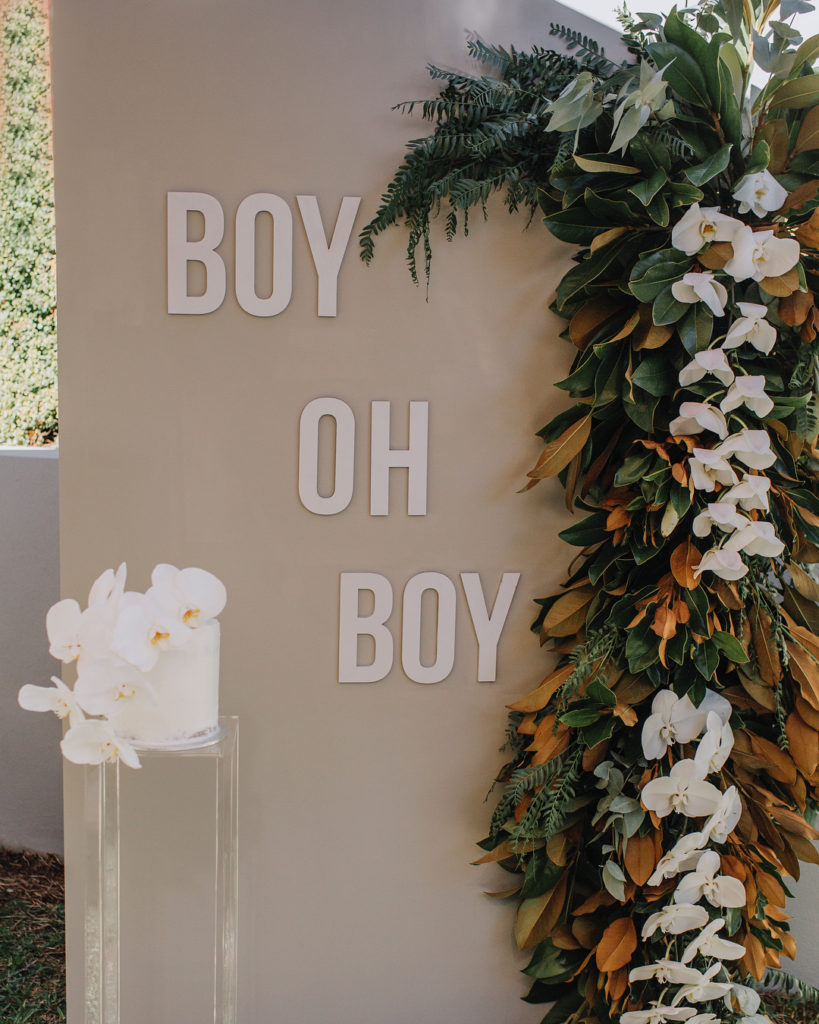 , Boy oh boy! An elegant welcome boy baby shower