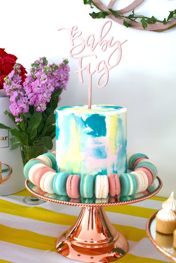 , Anna's bright baby shower and cake bar