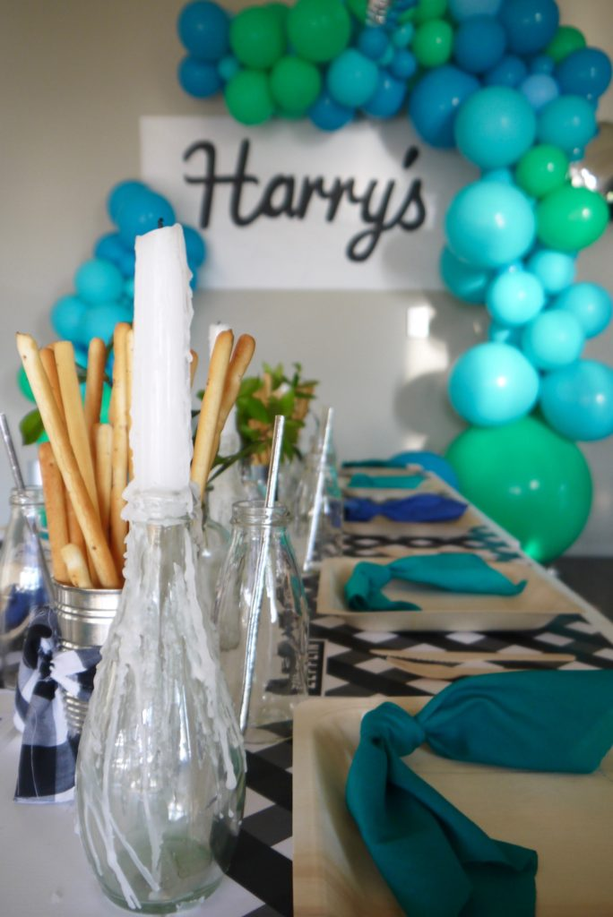 Harry's chef and cooking 4th birthday party - table styling