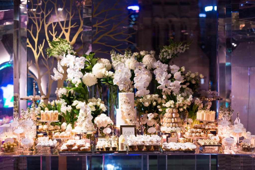 White and Gold Luxe 50th Birthday