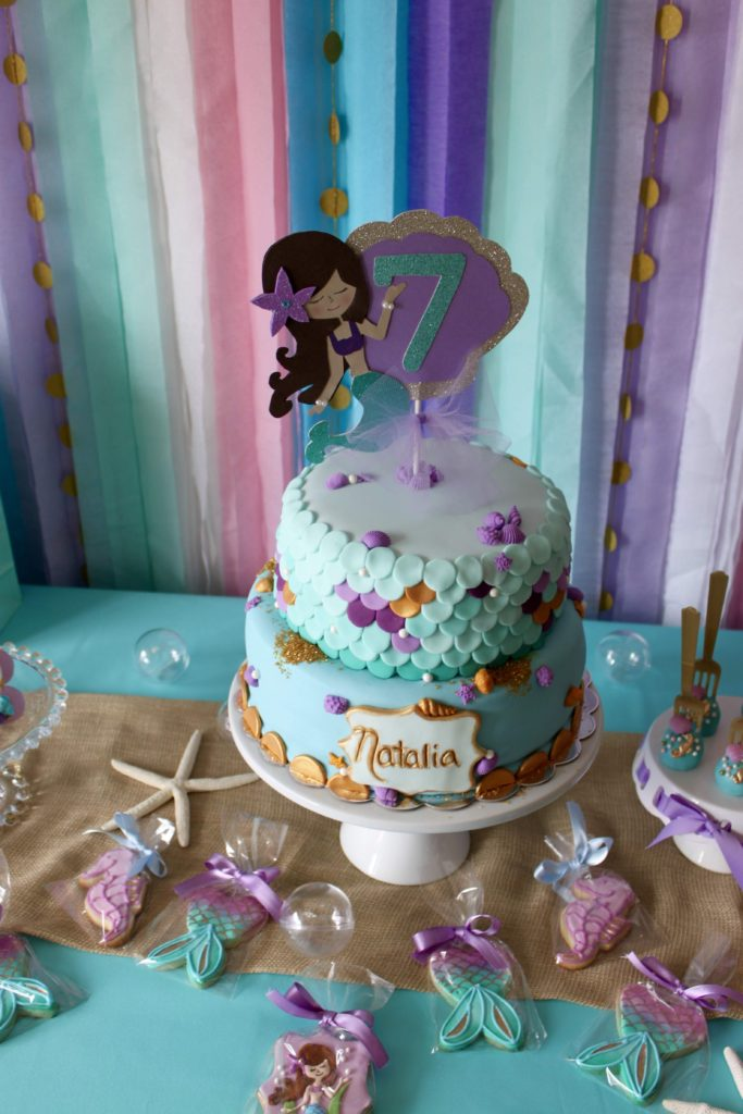 A mermaid themed birthday party