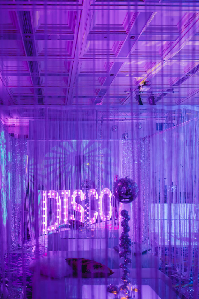 Groovy grown up disco party