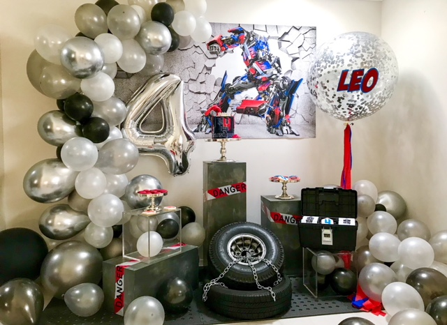 Modern Transformers party, Leo turns four – a modern Transformers party