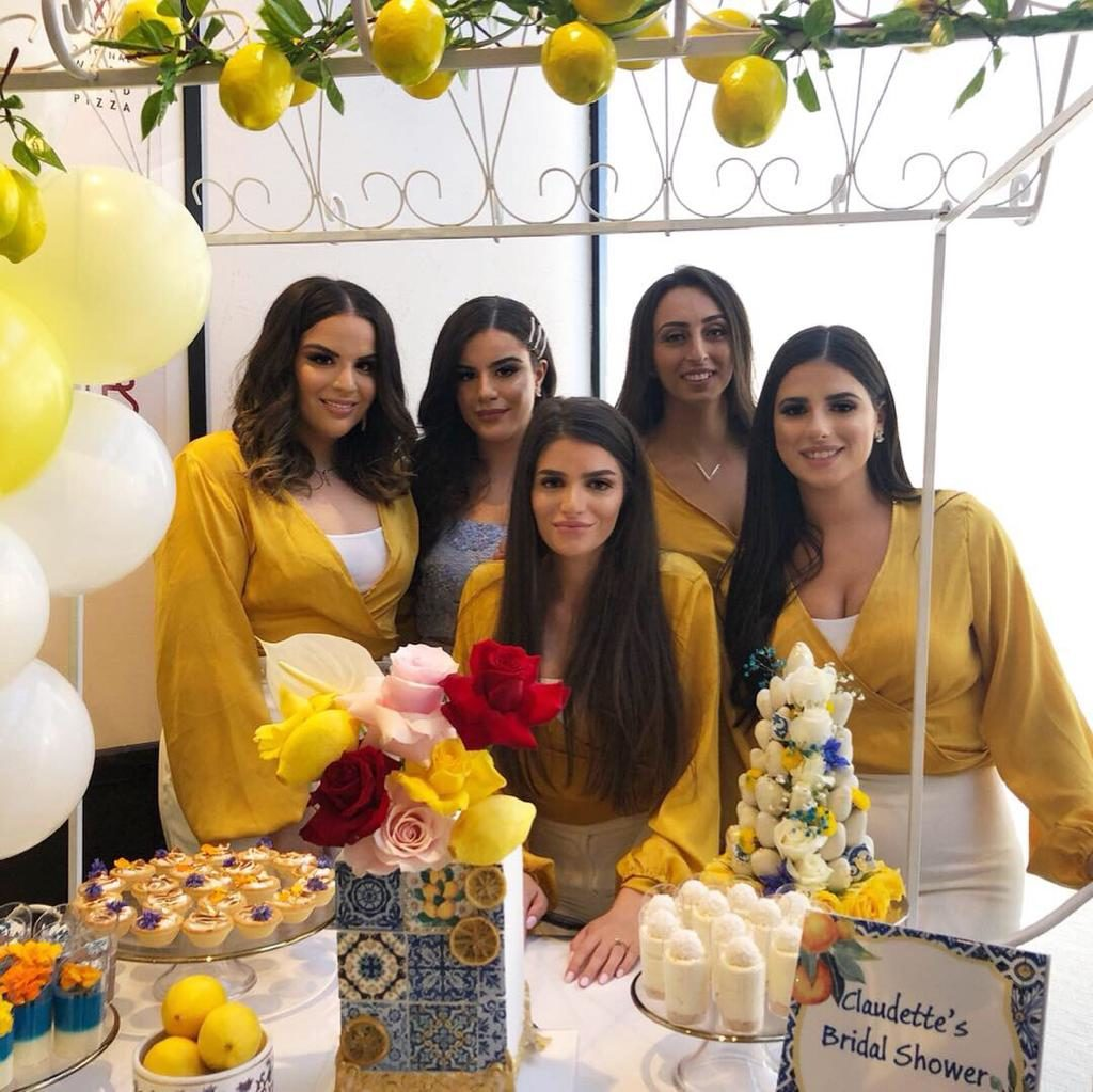 A Positano themed bridal shower