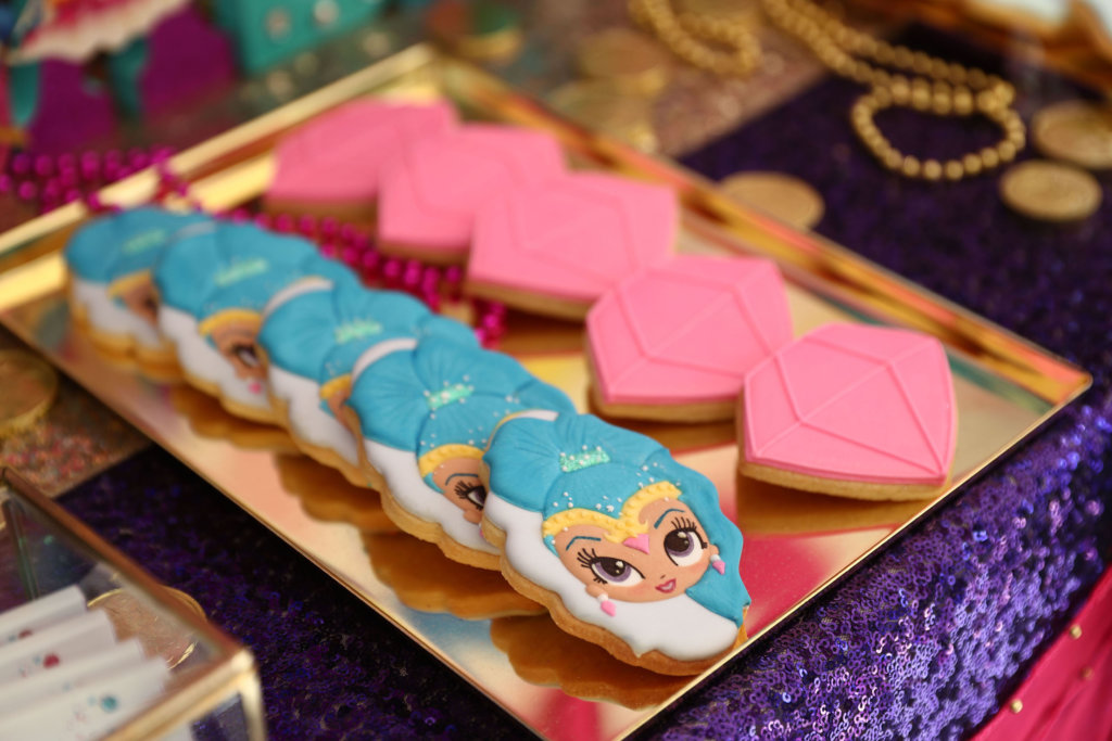 , Shimmer & Shine party for Jasmine's 5th birthday