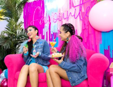 , 80's Miami inspired bachelorette party