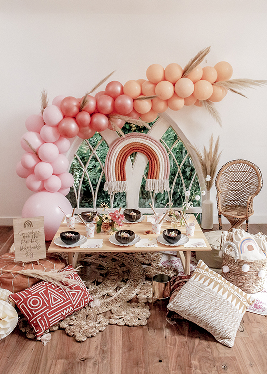 , Kansas inspired boho over-the-rainbow party