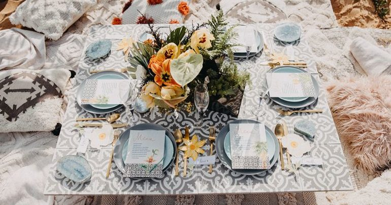 , A boho luxe Mediterranean inspired wedding
