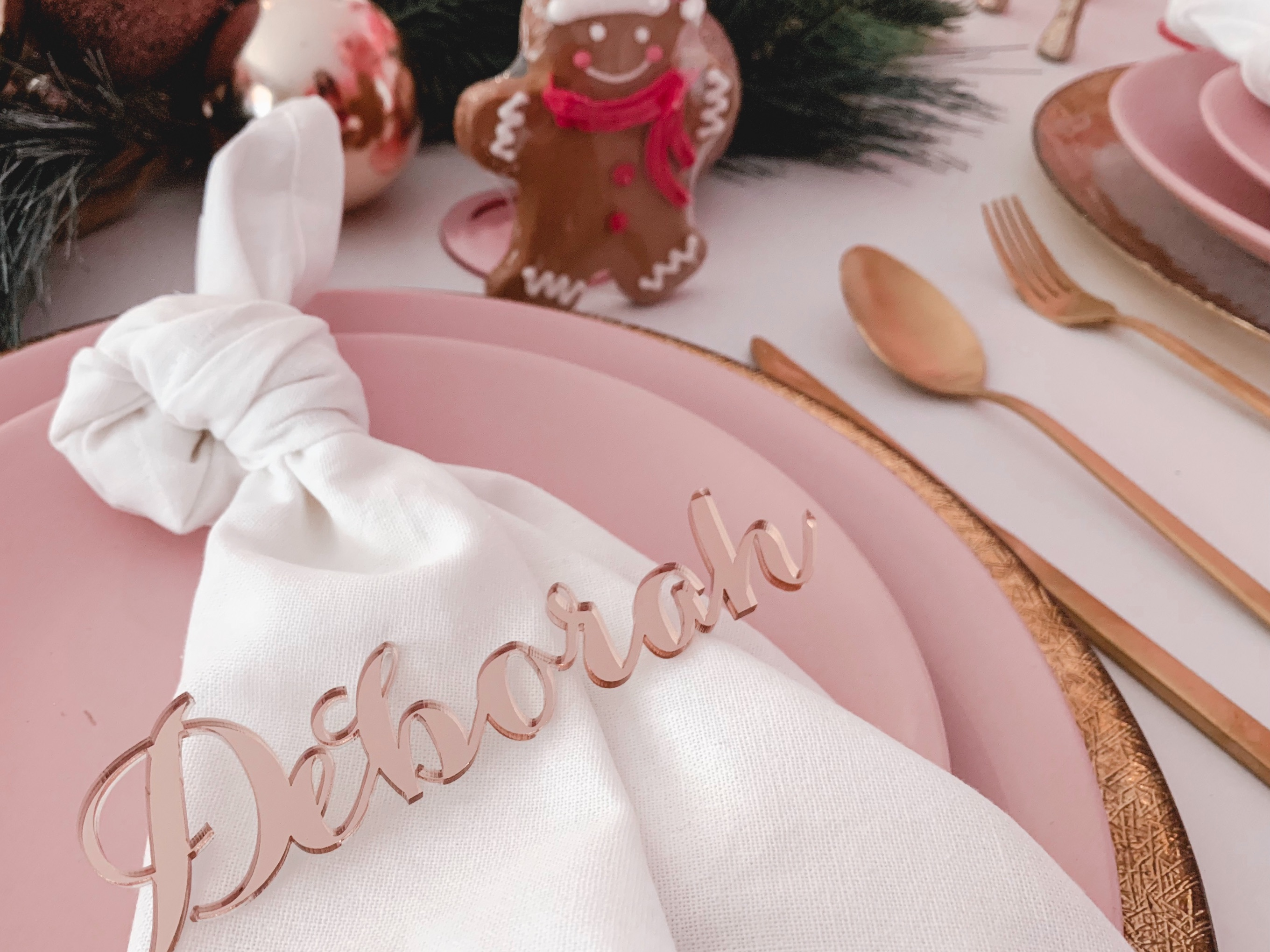 rose gold Christmas party, A modern rose gold Christmas party