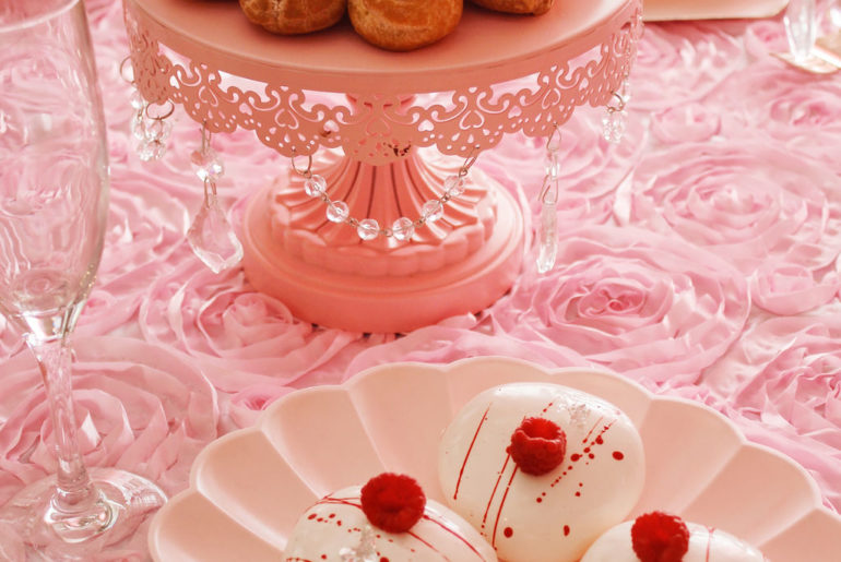 Marie Antoinette themed high tea, Marie Antoinette themed high tea for Galentine's