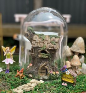 fairy garden party, Enchanting fairy garden party in pink and gold