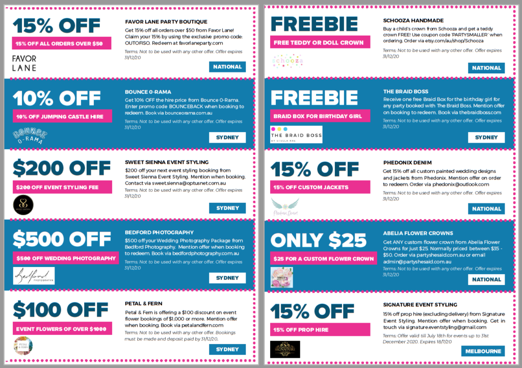 , Save with Confetti Fair party coupons!