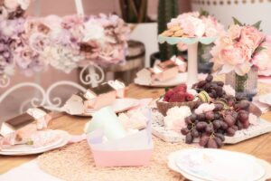 floral girly birthday party, Pink floral girly birthday party