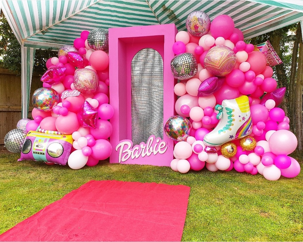 Barbie party backdrop by Emma Louise Events