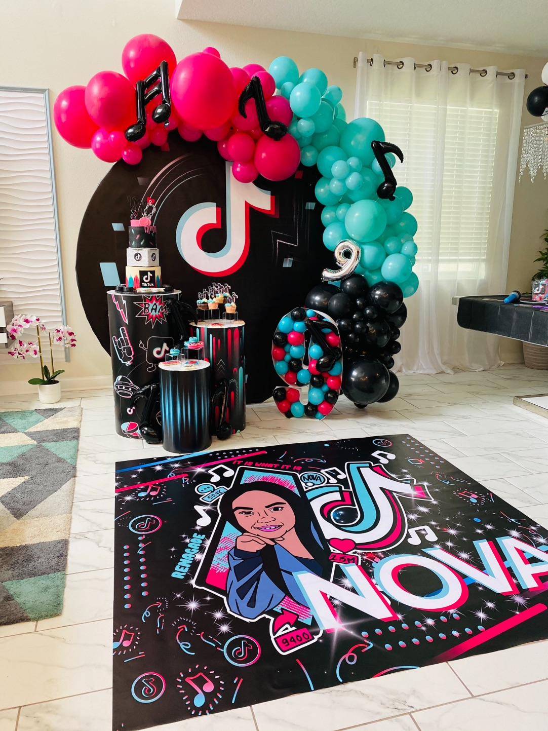 , Nova's 9th TikTok birthday party