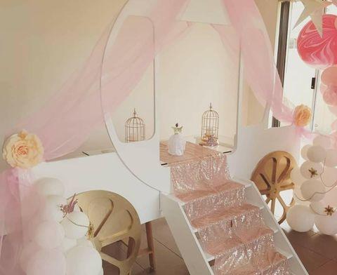 Princess carriage party backdrop