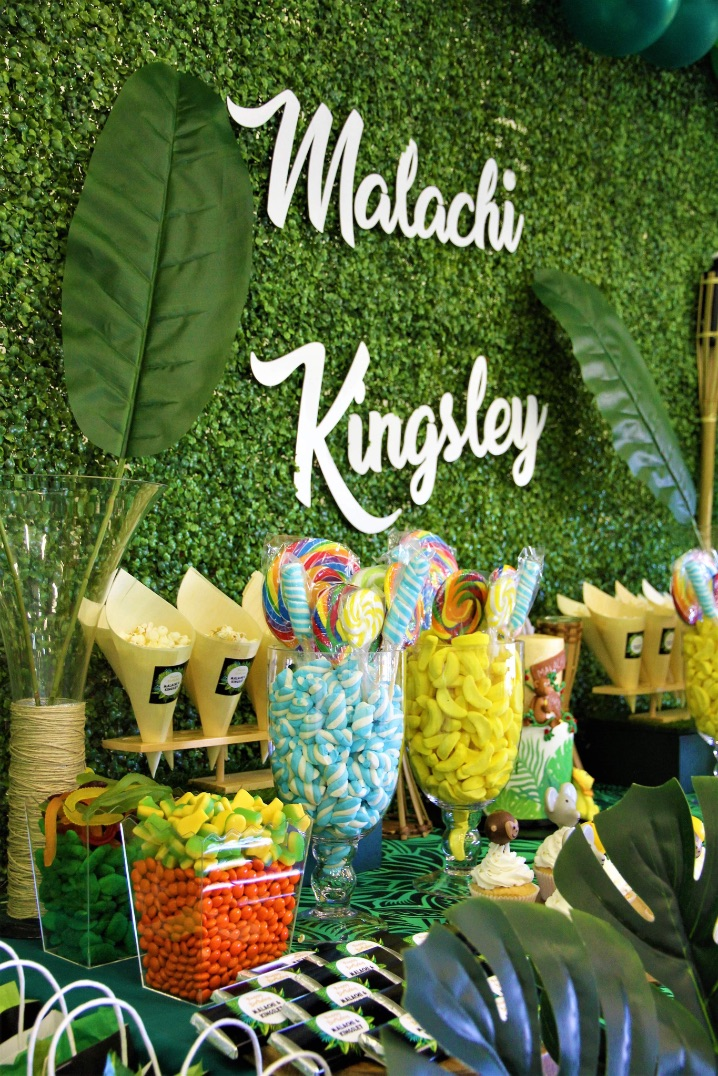 , Jungle themed party for a traditional South-Pacific celebration