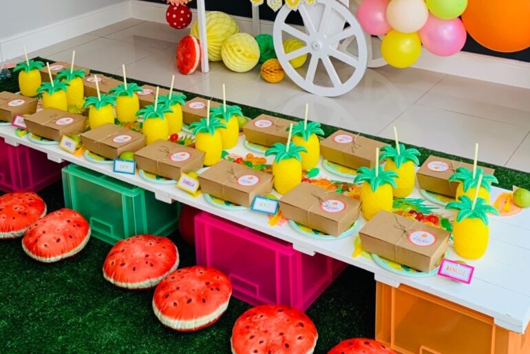 tutti frutti birthday party, A teen tutti frutti birthday party