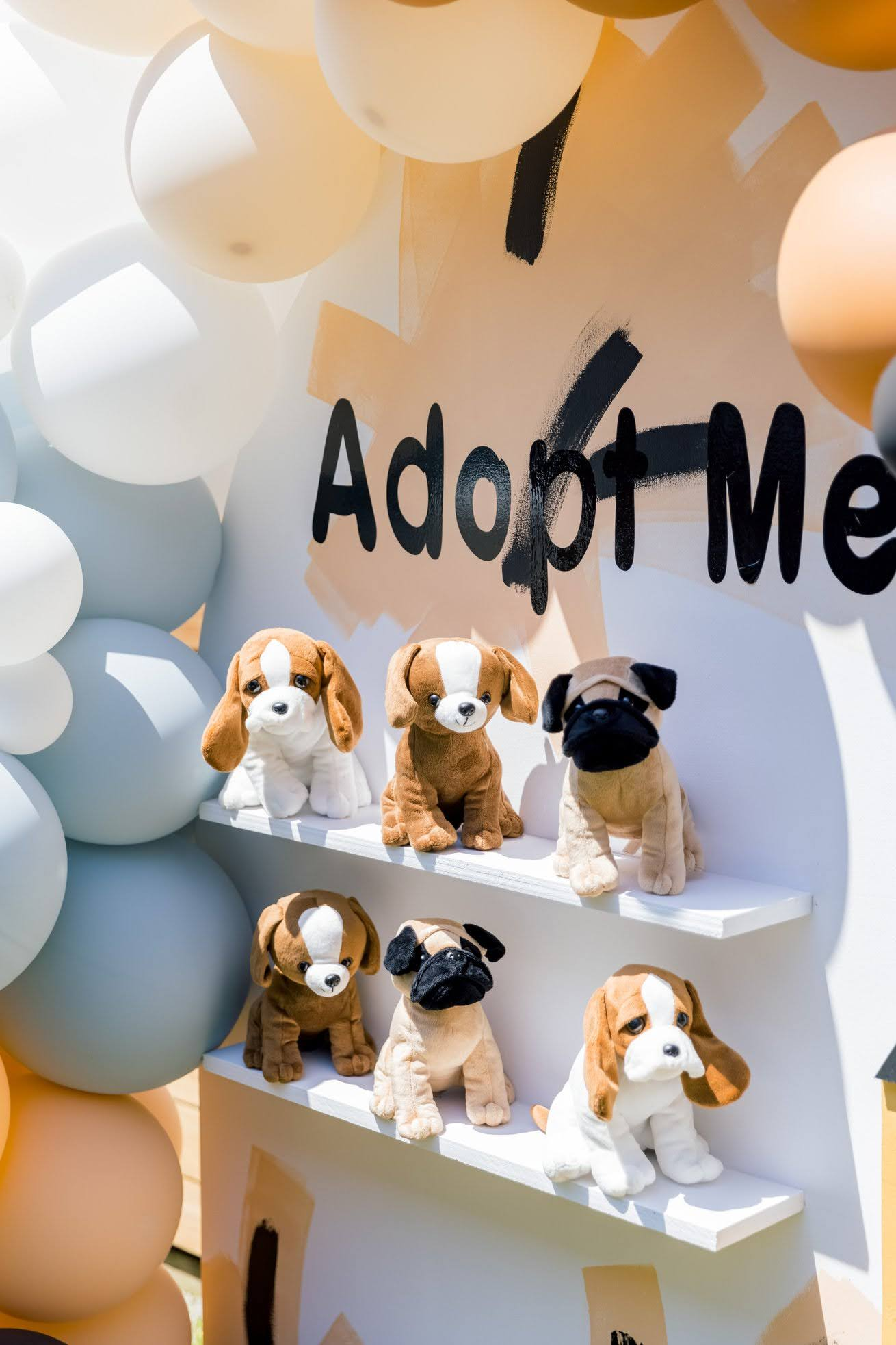 adopt a puppy birthday party, Abstract Adopt a Puppy Birthday Party